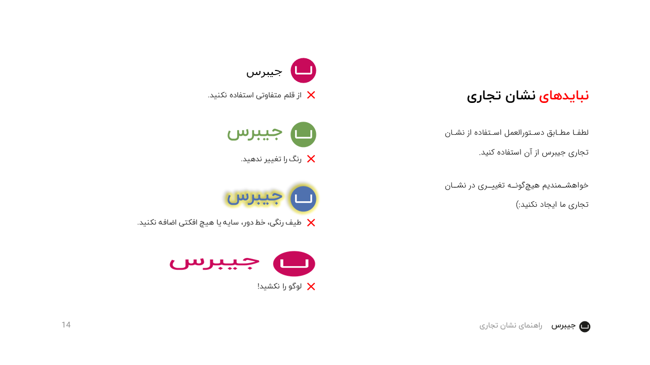 Jibres Logo Style Guide Persian Page14