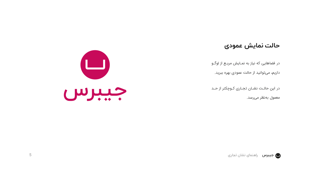 Jibres Logo Style Guide Persian Page5