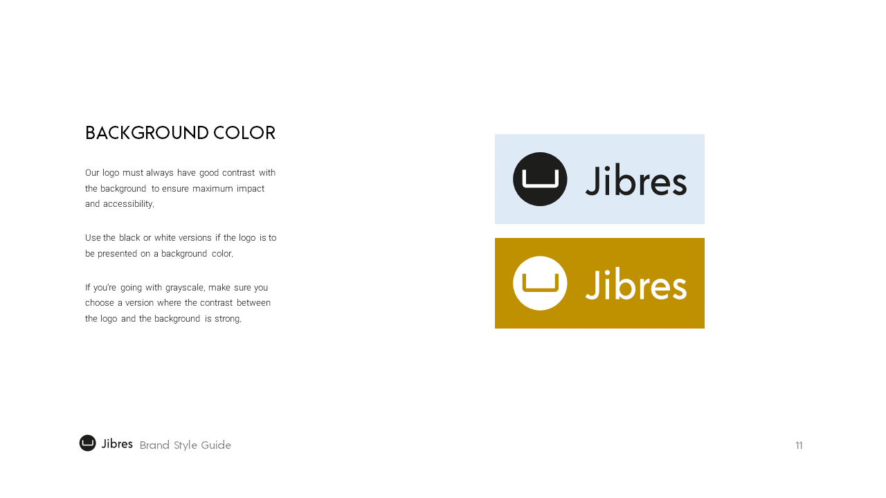 Jibres Logo Style Guide Page11