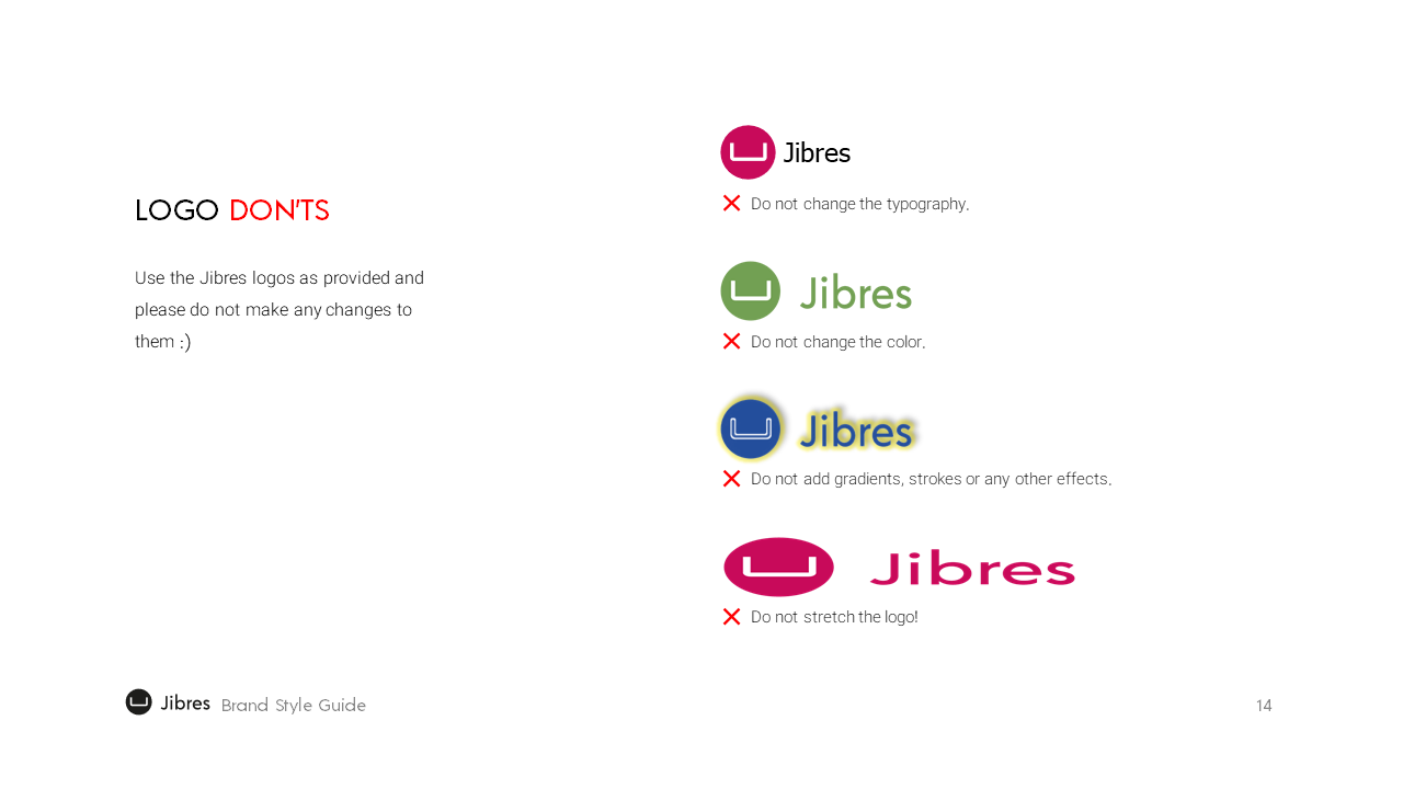 Jibres Logo Style Guide Page14