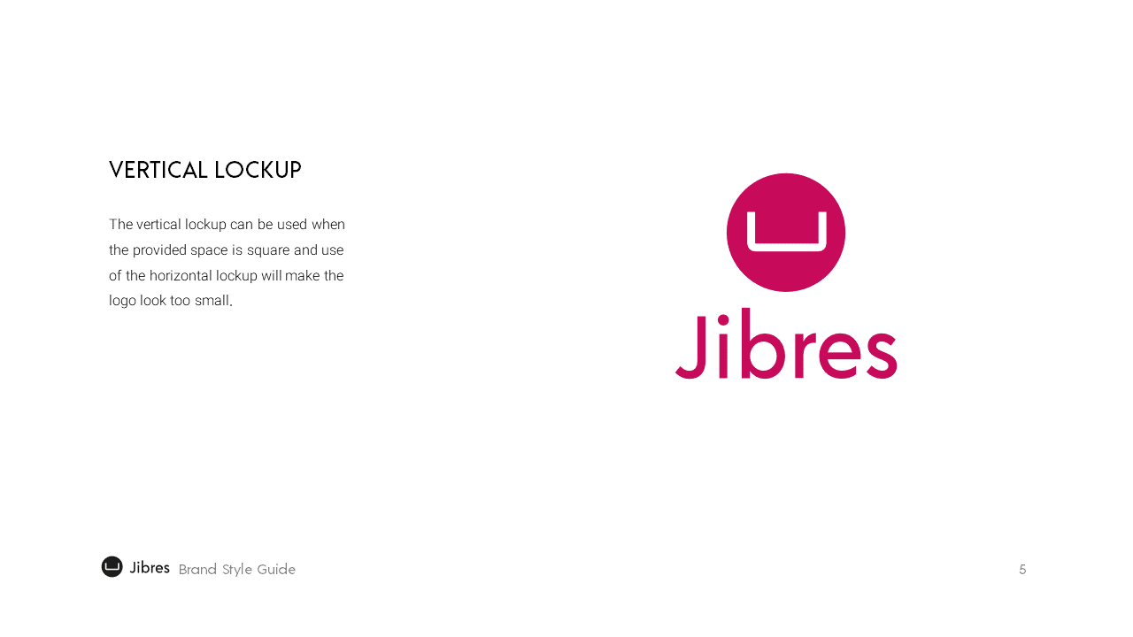 Jibres Logo Style Guide Page5